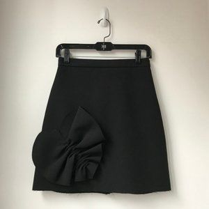 MSGM Black Skirt with Heart Detail Size 0/2